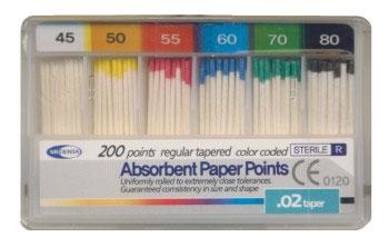 Штифты бумажные №45-80, 02 конус 120 шт