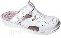 Обувь женская сабо LEON - V-260,белые 35
